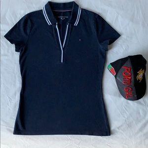 Tommy Hilfiger, Women Navy Blue Collar Shirt